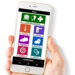 Hand holding conservatory remote access app